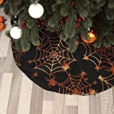 Halloween 36 Inches Tree Skirt with Spider