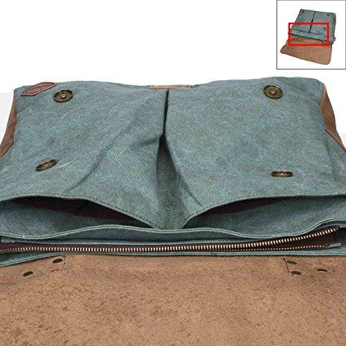 Fafada - Bolso al hombro para hombre Type1-Coffee large A Verdor