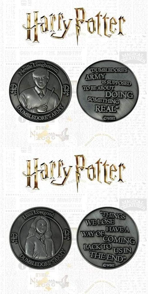 Harry Potter /& Ron Weasley Harry Potter Dumbledore Army Collectible Coin Set