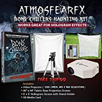 AtmosfearFX Bone Chiller DVD Ultimate Haunting Kit, Includes Translusent Screen, Hologram Screen With Stand Kit and Free Tripod