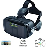 VR Headset Virtual Reality Headset 3D Glasses with 120°FOV, Anti-Blue-Light Lenses, Stereo Headset, for All Smartphones…