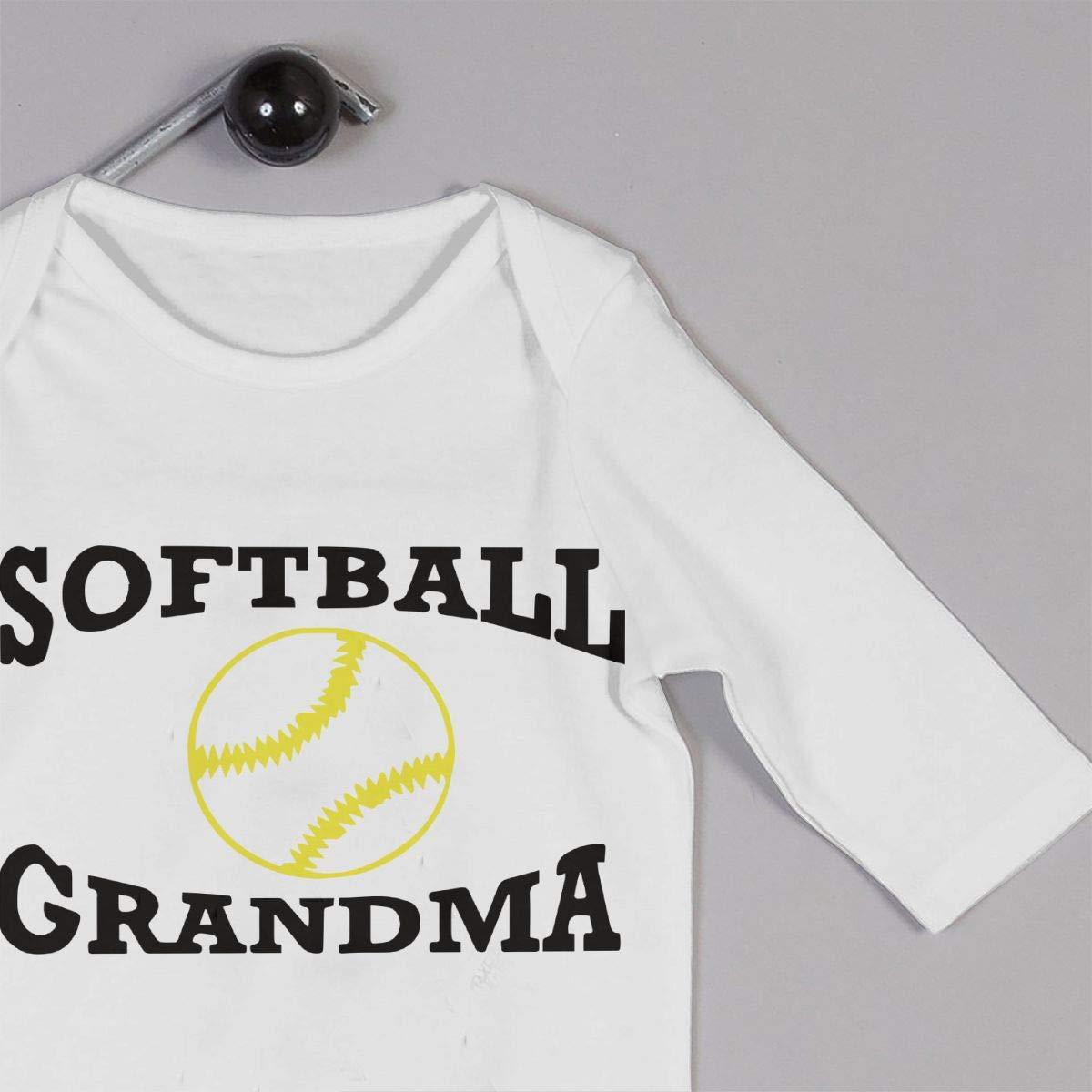 UGFGF-S3 Softball Grandma Toddler Baby Long Sleeve Bodysuit Infant Romper Jumpsuit Onsies