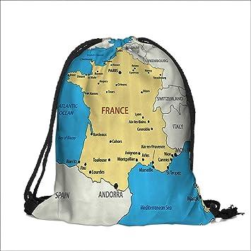 Amazon Com Drawstring Sacks Bundle Pocket Bag For Kids Map Of