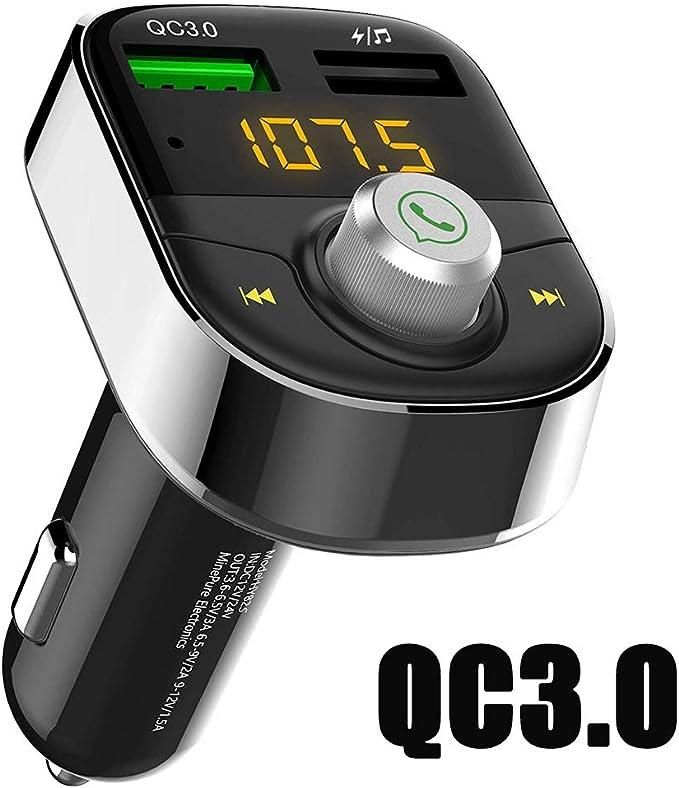 Car 2-in-1 Transmitter Receiver Wireless Audio USB Bluetooth FM Adapter 5.0 LB