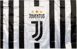 NIGUMIGU 3x5ft Football Team Logo Flag Vibrant Color-Durable Material Flag for Indoor and Outdoor (Ju-ven, 3x5ft)