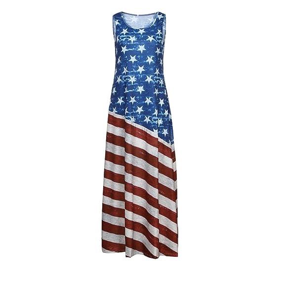57d44c1b7 Amazon.com  Hemlock Long American Flag Dress