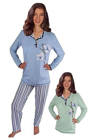 plus de photos be8f8 8bffa Ensemble de Pyjama Femme 100% Coton Manches longues + 2 Tops ...
