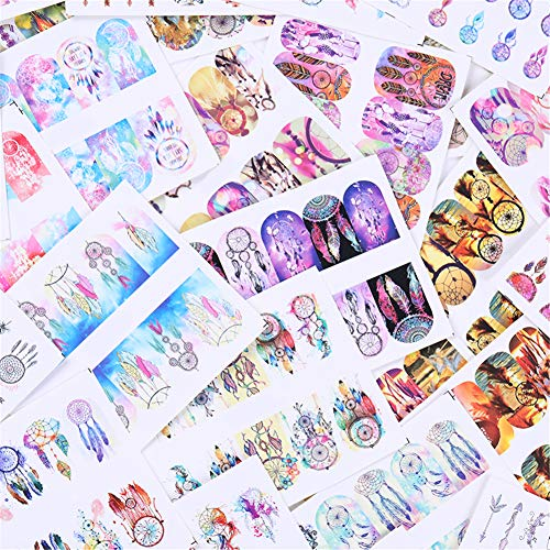 Transfer Decal - LEMOOC Nail Art Water Decals Transfer Stickers Nail Decorations Dreamcatcher 36 Sheets