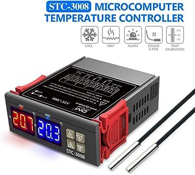 diymore STC-3008 controlador de temperatura digital termostato ...