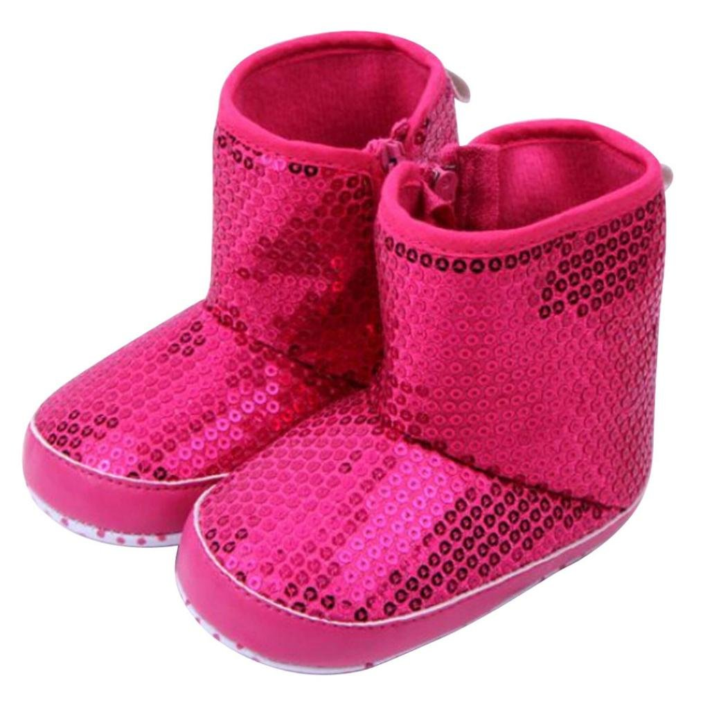Baby 3-12 Months Sequins Soft Sole Warm Shoes Boots Egmy Baby Shoes