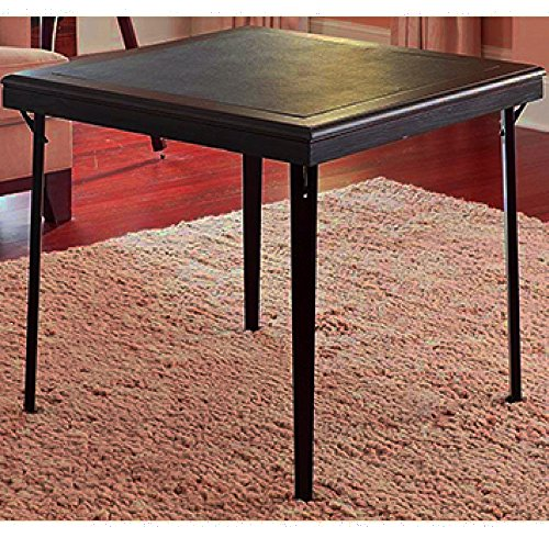 Black Folding Coffee Table Round Tea Table Small Square: Low Profile Folding Table Wooden Vinyl Black Espresso