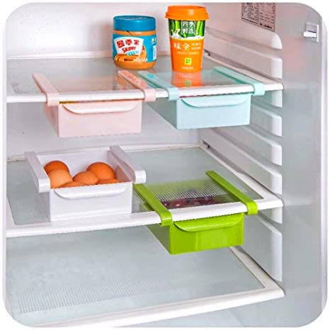 Fridge Freezer Cupboard Plastic Space Save Under Shelf Storage Holder Basket UK
