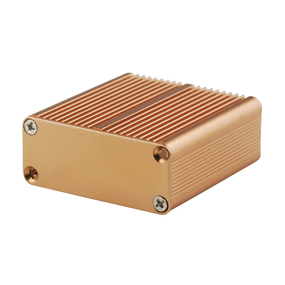Eightwood Aluminum Box Circuit PCB Board Enclosure Case Project Electronic Box DIY 1.77X1.77X0.73 LxWxH