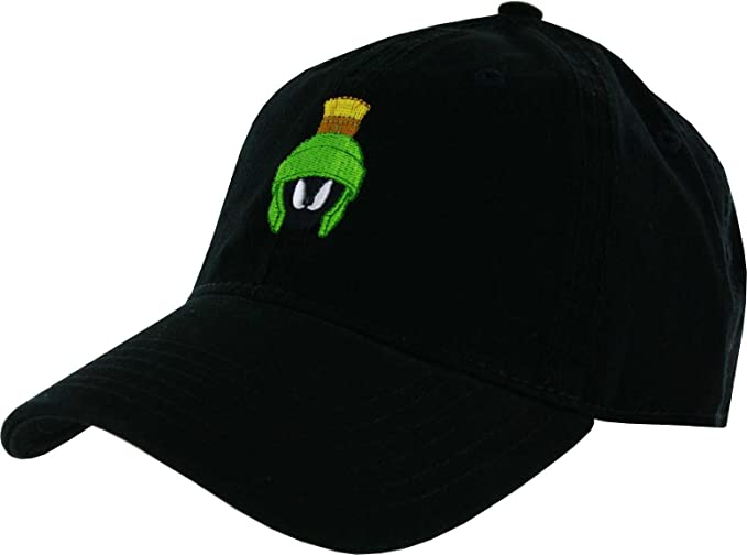 d94a3fc2 Image Unavailable. Image not available for. Color: Looney Tunes Marvin The Martian  Washed Dad Hat Black
