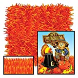 Club Pack of 24 Novelty Golden-Yellow and Orange Tissue Grass Mats 30