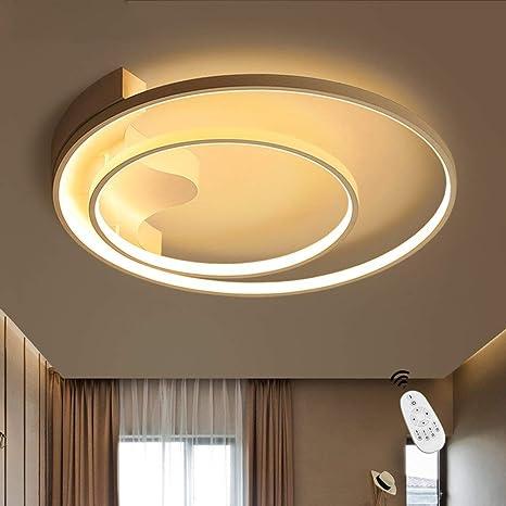 Lámpara LED de Techo, Iluminación Foco Interior Araña Luz Regulable Control Remoto 51cm 39W , Moderno LED Material de Metal y Acrílico para ...