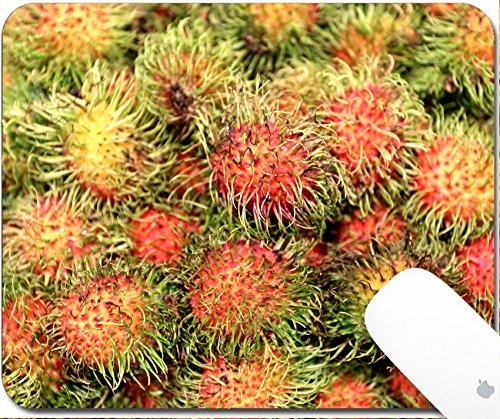 Luxlady Gaming Mousepad 9.25in X 7.25in IMAGE: 40323187 Delicious tropical fruit rambutan photographed close up