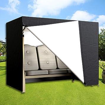 DWDMZ Housse de siège de Jardin imperméable pour balancelle 3 Places Noir  220 x 170 x 125 cm