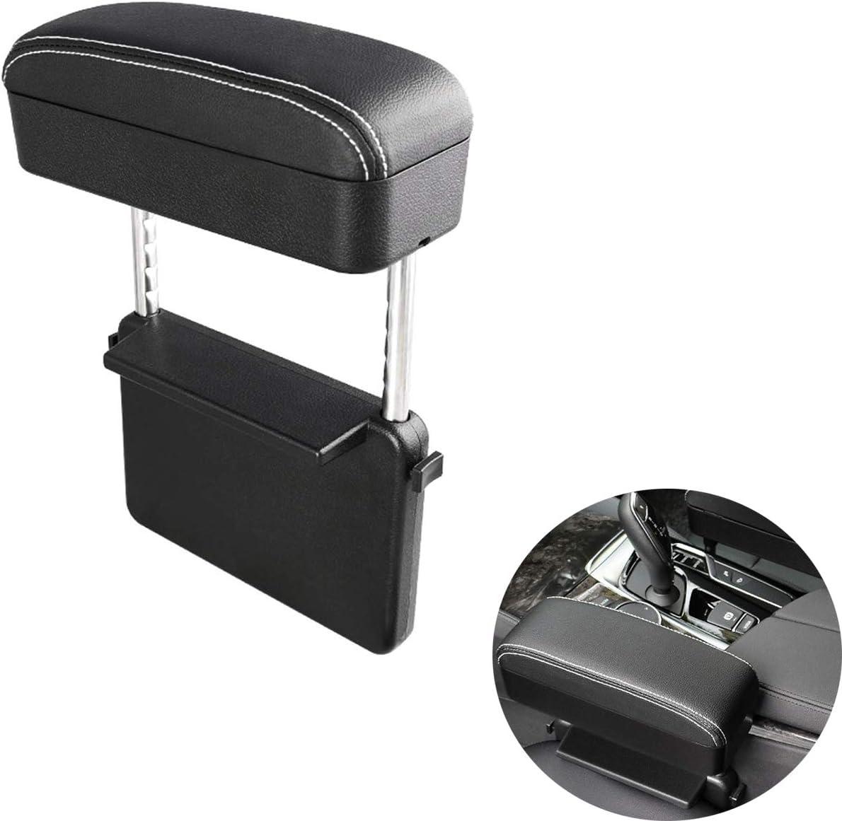 Storage RAYIE Universal Adjustable Car Armrex Box Sunglasses Coin etc Black- Red Line
