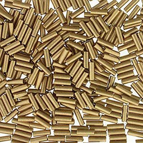 Beads Miyuki Bugle (Premium Czech Glass Bugle Beads 7mm Bronze Pale Gold 24 Grams)