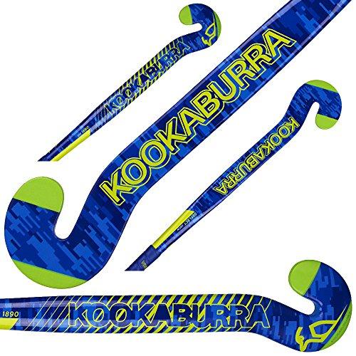 Goalie Field Hockey Stick - Kookaburra Goal Keepers Goalie Field Hockey Stick Deflect Popular G-Bow Design 10% Carbon 90% Fiber Glass Light Weight (36.5 Inches Length)