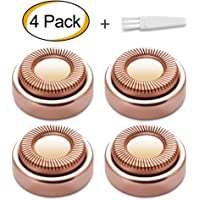 Facial Hair Remover Replacement Heads for Electric or Battery Hair Remover, 18K Gold-Plated Rose Gold, 5 Count (Rose Gold)