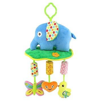 Amazon.com: Shinybaby Elefante de peluche para bebé, juguete ...