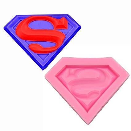 Molde de silicona con diseño de Superman para decorar tortas, para chocolate o