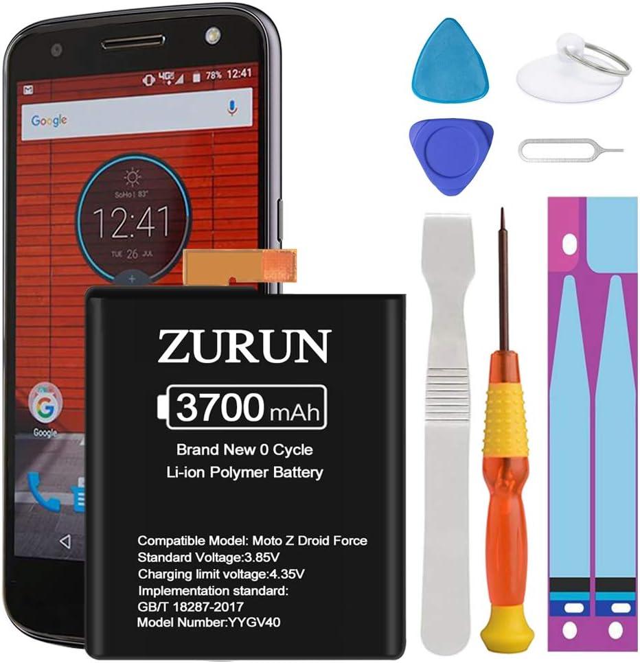Bateria ZURUN 3700mAh para Moto Z Droid Force XT1650