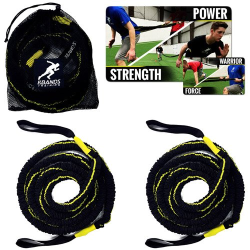Kbands Victory Ropes - Multiflex Battle Ropes - Strength & Conditioning - Resistance Bands Stretch Up To 20ft Each by Kbands Training