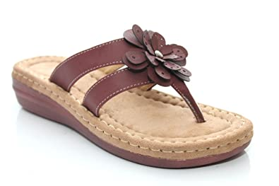 1a23b4156b6944 Flower Trim Toe Post Sandal - Raspberry  Amazon.co.uk  Shoes   Bags