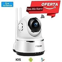 Pan/Tilt FREDI WiFi Cámara IP/Cámara de Vigilancia/Cámara Seguridad y Inalámbrica HD 720P/Vigilabebes Baby Monitor IR Visión Nocturna /Detección de Movimiento con Vista Remota (Blanca)