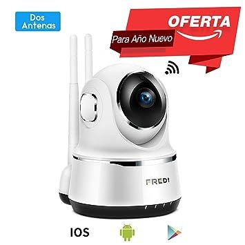 Pan/Tilt FREDI WiFi Cámara IP/Cámara de Vigilancia/Cámara Seguridad y Inalámbrica HD 720P/Vigilabebes Baby Monitor IR Visión Nocturna /Detección de ...