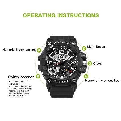 Rcool Relojes suizos relojes de lujo Relojes de pulsera Relojes para mujer Relojes para hombre Relojes deportivos,Reloj deportivo impermeable Shock Digital ...