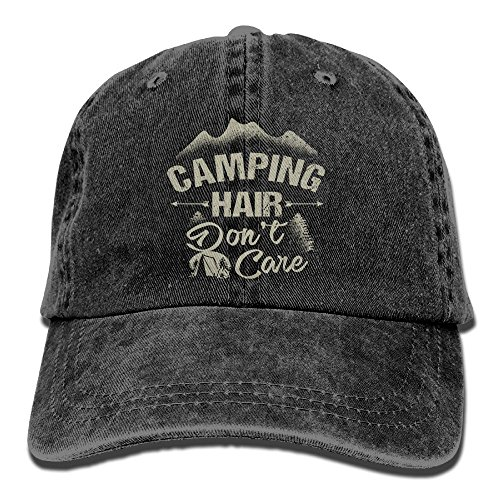 Arsmt Camping Hair Don't Care Denim Hat Adjustable Female Great Baseball Hat