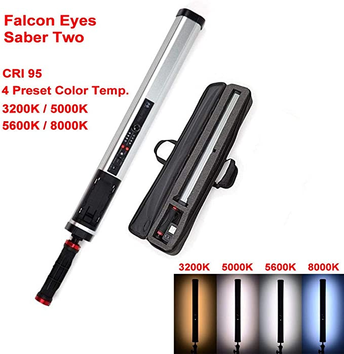 FALCON EYES 15W Saber3 LED Photo Video Fotografia Fill Tube Light Continuous Lighting High Dimmable Power Output Handheld Stick