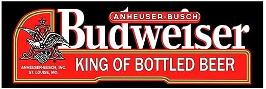 Budweiser King de cerveza embotellada negro etiqueta cartel ...