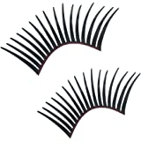 Big Ant 3D Car Eyelashes for Headlight Decoration Sticker(2-Pack,Black)