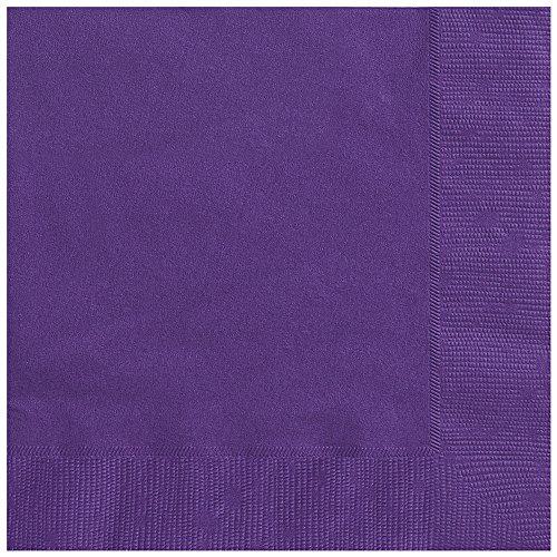 Dark Purple Beverage Napkins 50ct