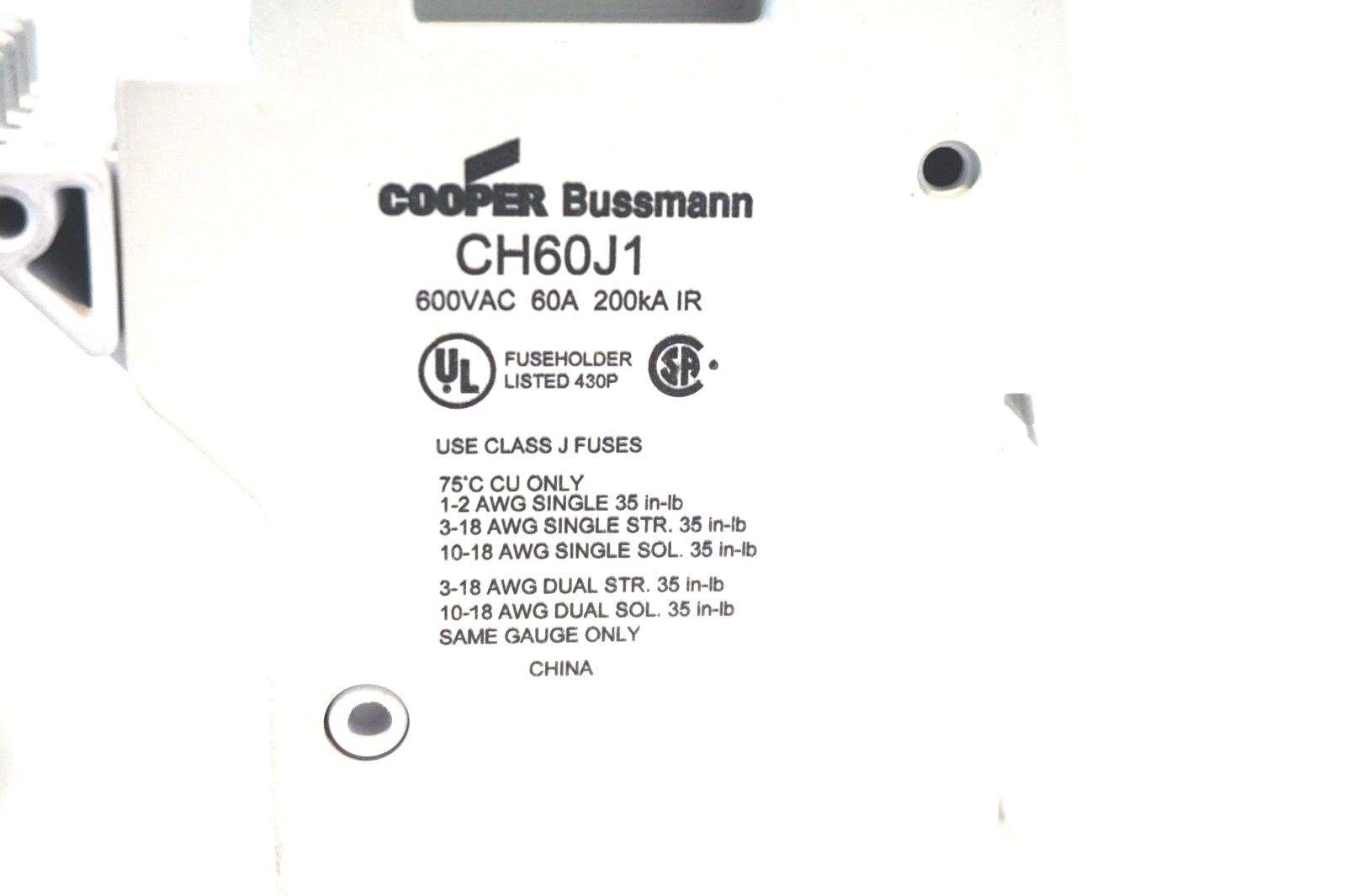3 NEW BUSSMANN CH60J1 FUSE HOLDERS