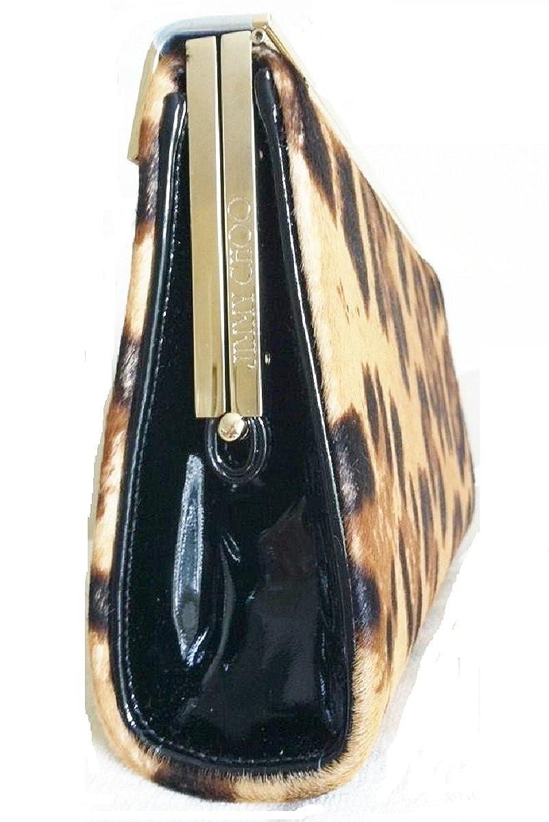 Jimmy Choo - Cartera de mano para mujer marrón estampado de leopardo: Amazon.es: Zapatos y complementos