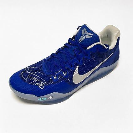 new style 62395 60e5e Demar DeRozan Autographed Nike Kobe Zoom Blue Basketball ...