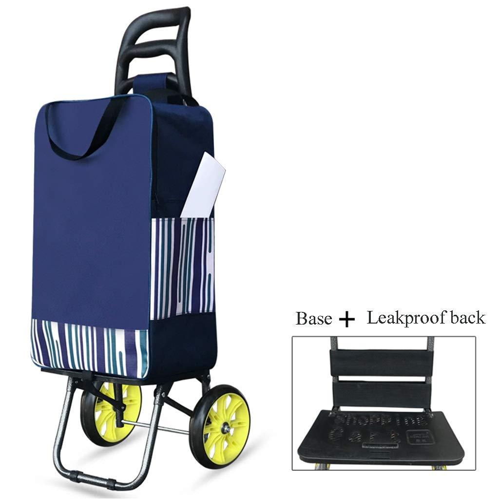 ショッピング小型カート、携帯用世帯のトロリー年配のスーパーマーケットの折る荷物のカート (色 : B) B07R4RNHP4 B