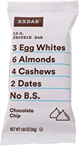 RXBAR Whole Food Protein Bar, Chocolate Chip, 1.83 Ounce