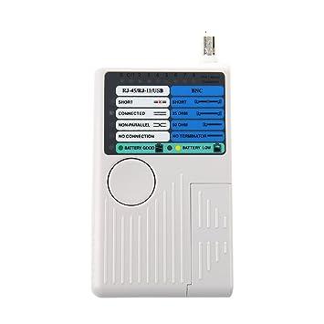 TOOGOO(R) Comprobador Tester Cable Red Telefono 4 en 1 RJ45 RJ11 USB Coaxial