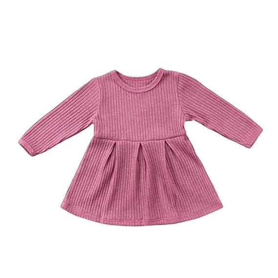 Vestido de manga larga para bebés y niñas, diseño de princesa de ...