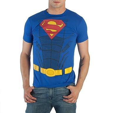 Superman Hasta traje traje Camiseta XX-Large Azul: Amazon.es ...