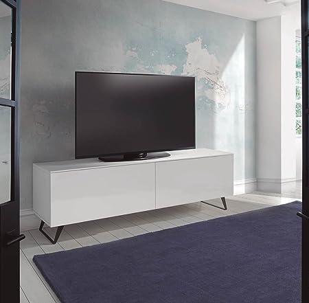 DUGARHOME - Muebles de TV Modernos - Mueble LYON 2 Puertas Blanco: Amazon.es: Hogar