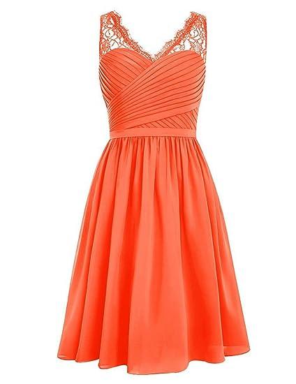 Short Wedding Dresses with Orange
