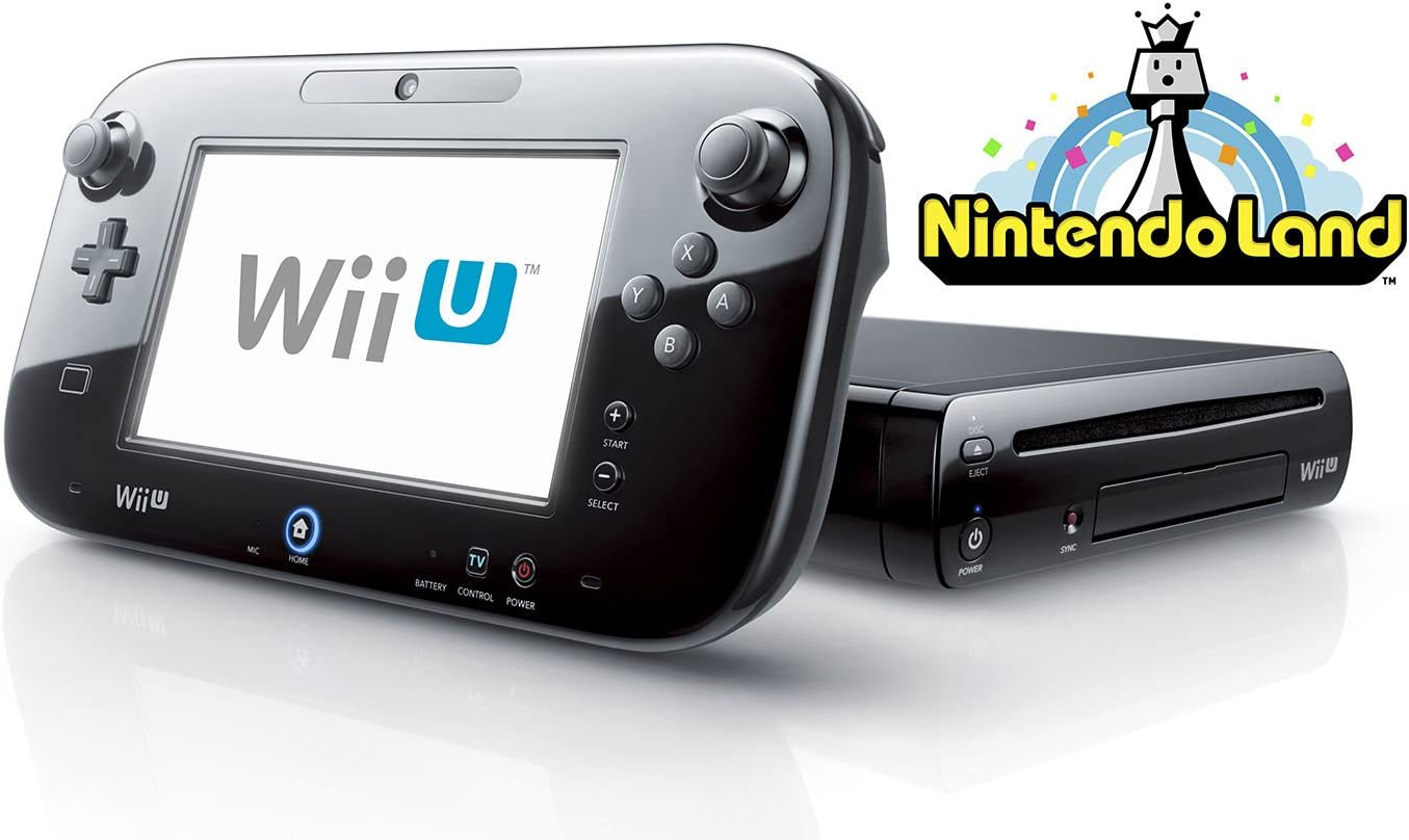 Wii U Deluxe Set 32GB Black Edition with Nintendo Land (Certified Refurbished)